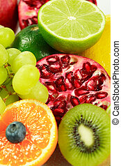 Fresh fruits with lot of vitamins
