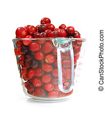 Cranberries in a cup