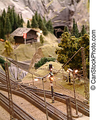 train model - Small railway model in the countryside