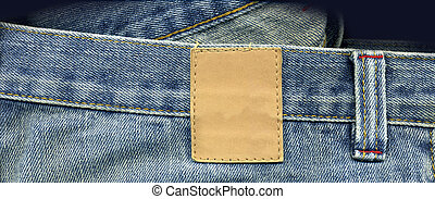 Jeans close up with patch for logo designs