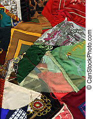 Patchwork fabric background texture