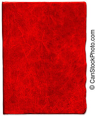 Vintage Red scratched leather texture scanned in high...