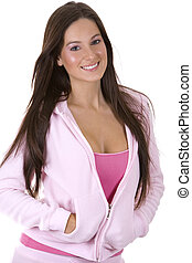 casual pink - beatufil model wearing casual pink outfit with...