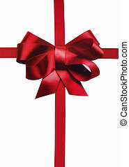 red holiday bow and ribbon for xmas