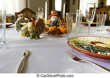 Getting Ready for the Thanksgiving Family Dinner - Family...
