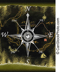 adventure - map,compass