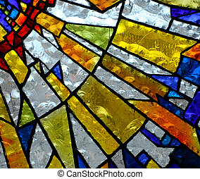 stainglass 5 - stainglass of an old church showing pattern...