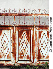 Iron gate - Rustic old iron gate