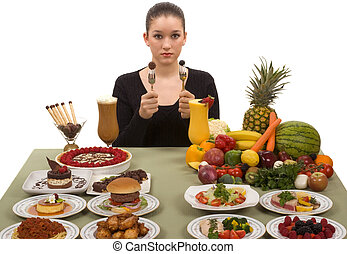 Hard Decision - Do the right thing! Choose healthy foods for...