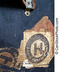 Travel Case Stamps and Labels - Old travel case stamps and...