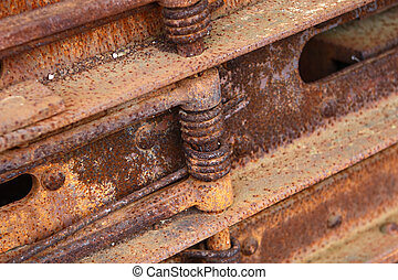 Old machine part - Close up old machine part covered by rust