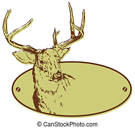 Deer Hunting Club Style Banner Illustration, just add your...