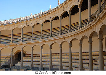 Bullring in Ronda, Spain - Bullfighting arena in Ronda,...