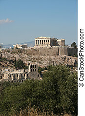 parthenon and herodion - parthenon herodion and erechthion...