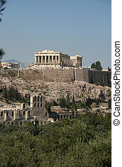 nature and parthenon