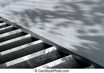 Marble staircase - Marble ladder and wall with shadows