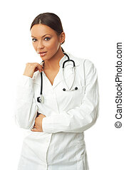 Female Doctor - 20-25 years old beautiful female doctor...
