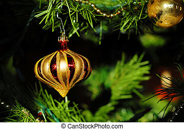Christmas ornament with dark background