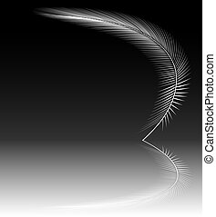 Reflecting feather - Design of a white feather and...