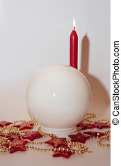 christmas crystal ball 2 - christmas crystal ball against a...