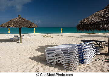 stacked sun beds