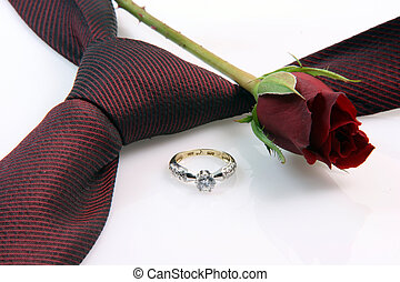 anniversary and romance - wedding proposal equipment diomond...