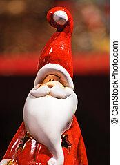 Santa Claus statuette - Ceramics statuette of Santa Claus -...