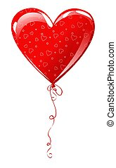 Heart balloon - Heart shaped balloon with  ornament