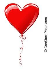 Heart balloon - Heart shaped balloon isolated on white