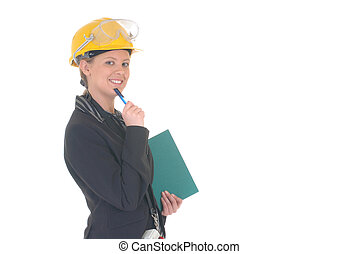 Construction supervisor woman