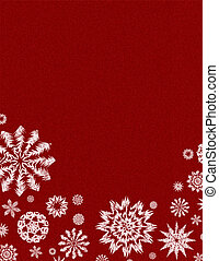 Red background with snow - Texture red background with large...