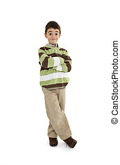 Young Boy - Young caucasian boy dressed in a casual outfit...