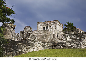 Mexico - Mayan ruins of Tulum. Located on the Yucatan...