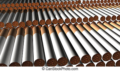 cigarettes nicotinism dependence - Computer image,...