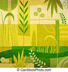 vegetal background - abstract decorative design;...