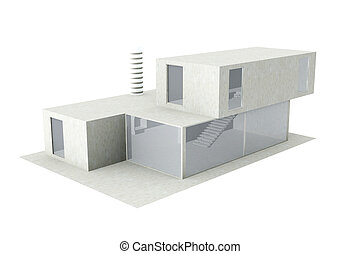Generic modern Architectu - 3D Illustration.