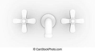 Faucet - 3D rendered Illustration