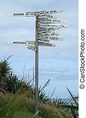 Sign post - International sign post in Westport, New Zealand...