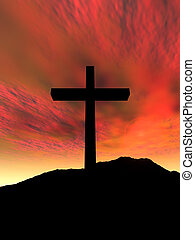Cross - 3D Illustration. Symbol of Christianity.