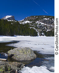 Bear Lake Thaw - Bear Lake in Rocky Mountain National Park.