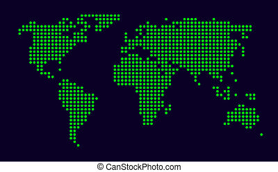 dotted world map - world map made from small dots;...