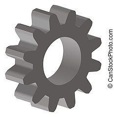 gear - illustration of an gear; 3D view