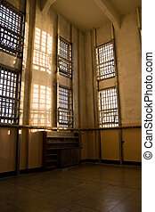 Abandoned Library at Alcatraz - late afternoon sun falls...