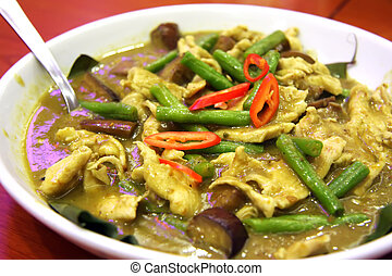 Thai green curry traditional spicy asian cuisine