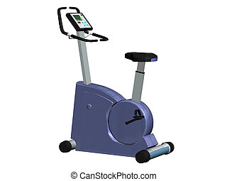 exercise bike - Computer image,blue exercise bike 3D,...