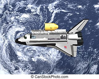 space shuttle - Computer image, space shutlle 3D, isolated...