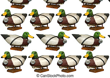 Carved Mallard Drake Decoy Ducks - Hand carved Mallard Drake...