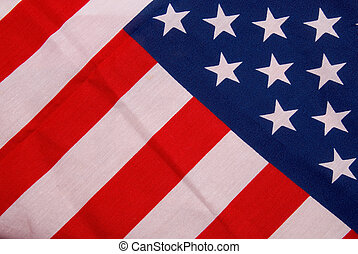 Flag of the United States of America - Close up of flag of...