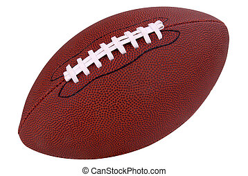 Football on white - American football isolated over a white...