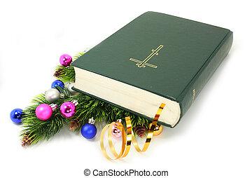 bíblia, xmas, dÈcor